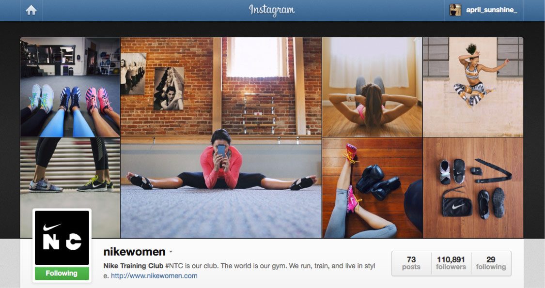Nike Targets Women with Instagram Campaign